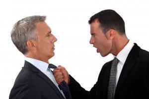 two men in arguing